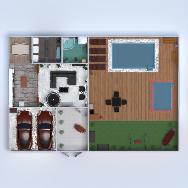 floorplans casa muebles decoración 3d