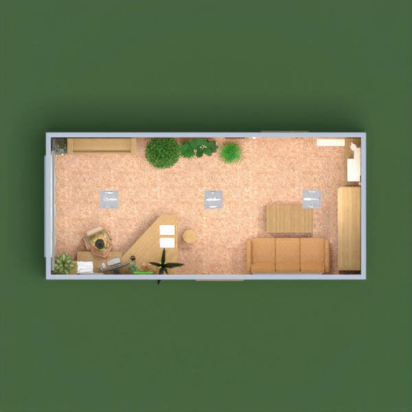 floorplans muebles decoración despacho iluminación trastero 3d