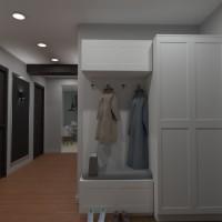 floorplans apartment house lighting entryway 3d