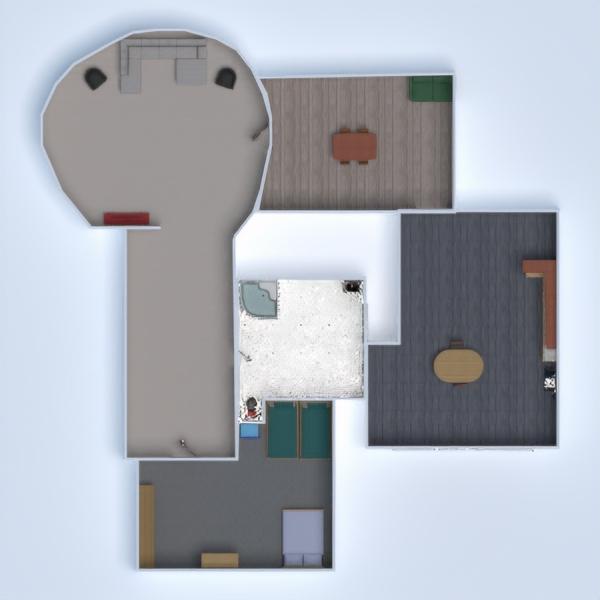 planos dormitorio salón cocina comedor 3d