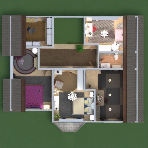 floorplans dom taras meble wystrój wnętrz zrób to sam łazienka sypialnia pokój dzienny kuchnia oświetlenie remont krajobraz architektura przechowywanie 3d