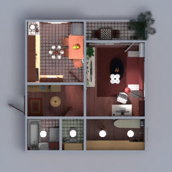 floorplans mieszkanie meble wystrój wnętrz łazienka sypialnia pokój dzienny kuchnia wejście 3d