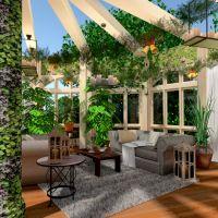 floorplans terrace furniture decor lighting architecture 3d