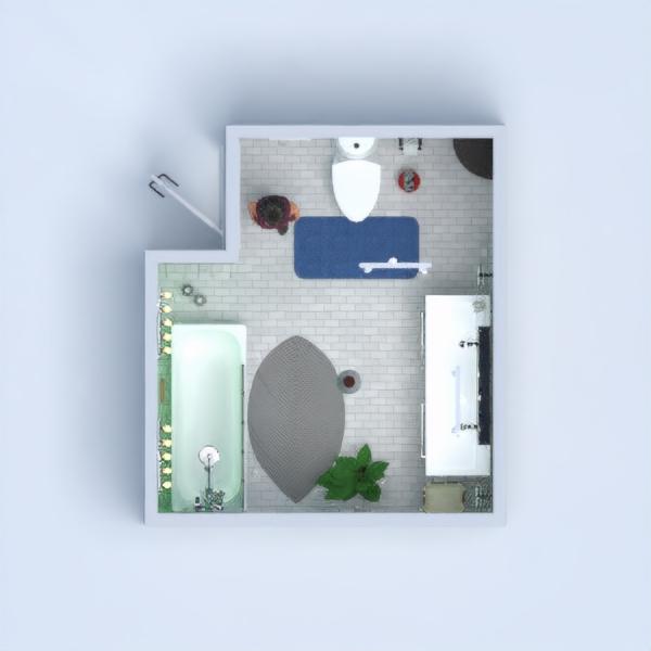 floorplans décoration salle de bains eclairage 3d