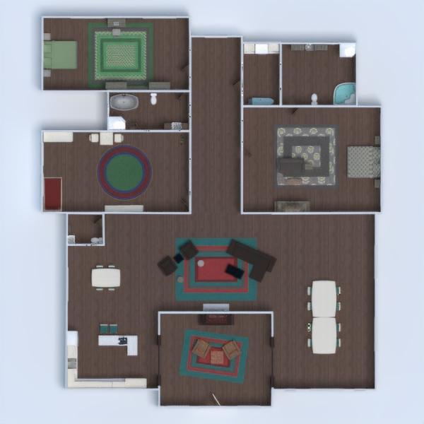 floorplans house furniture bathroom bedroom living room kitchen dining room entryway 3d