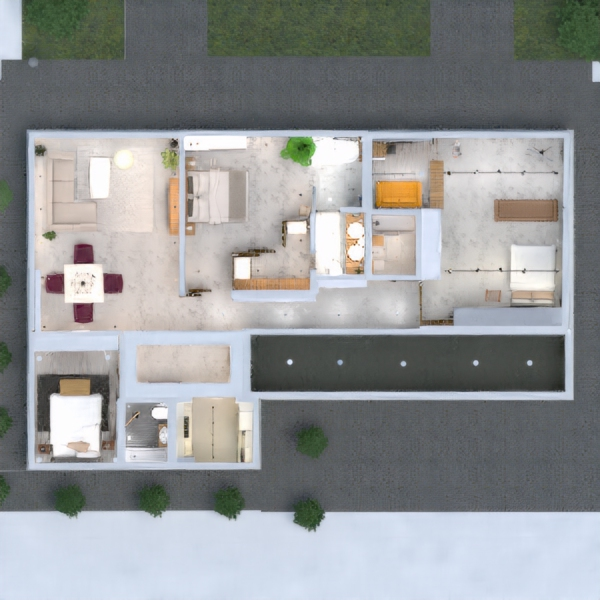 floorplans appartement maison chambre à coucher architecture studio 3d