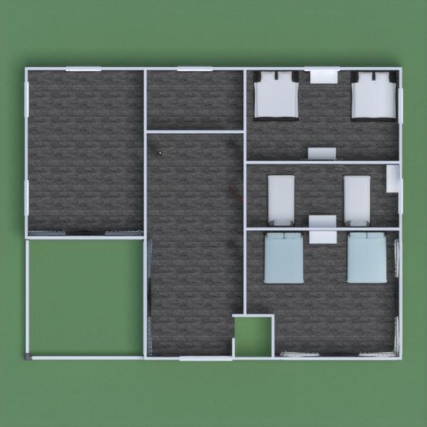 floorplans veranda camera da letto saggiorno paesaggio 3d