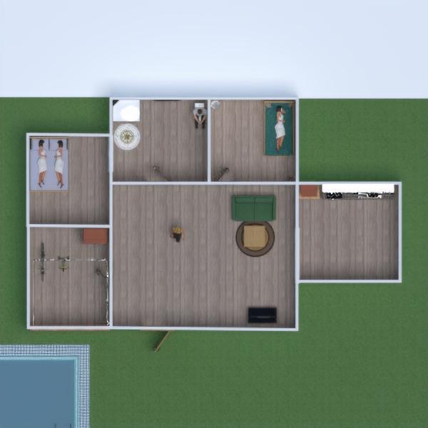 floorplans haus badezimmer wohnzimmer garage küche 3d