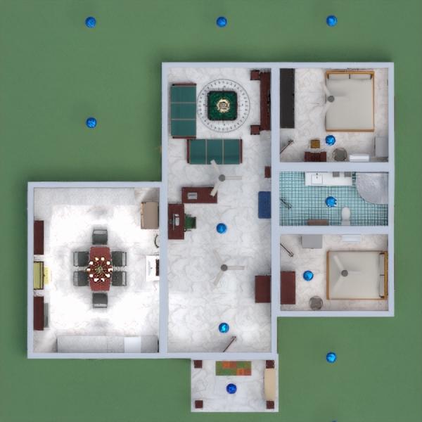 floorplans maison salle de bains chambre à coucher salon garage 3d