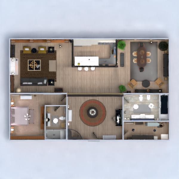 floorplans apartamento muebles decoración cuarto de baño dormitorio salón cocina iluminación arquitectura trastero estudio descansillo 3d
