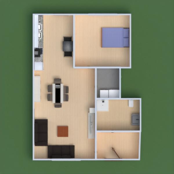 floorplans apartamento casa cocina reforma paisaje 3d