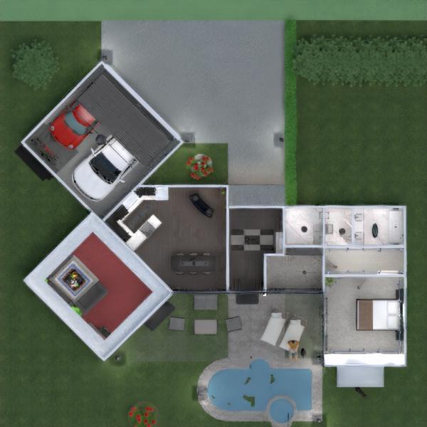 floorplans appartamento casa veranda arredamento bagno camera da letto saggiorno garage cucina esterno illuminazione sala pranzo architettura vano scale 3d