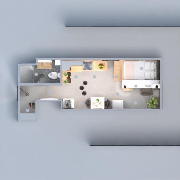 floorplans appartamento decorazioni camera da letto famiglia monolocale 3d
