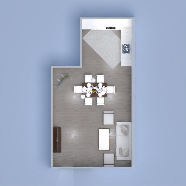 floorplans meubles salon cuisine salle à manger 3d