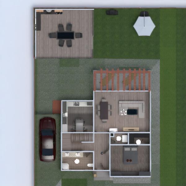 floorplans casa veranda esterno architettura 3d