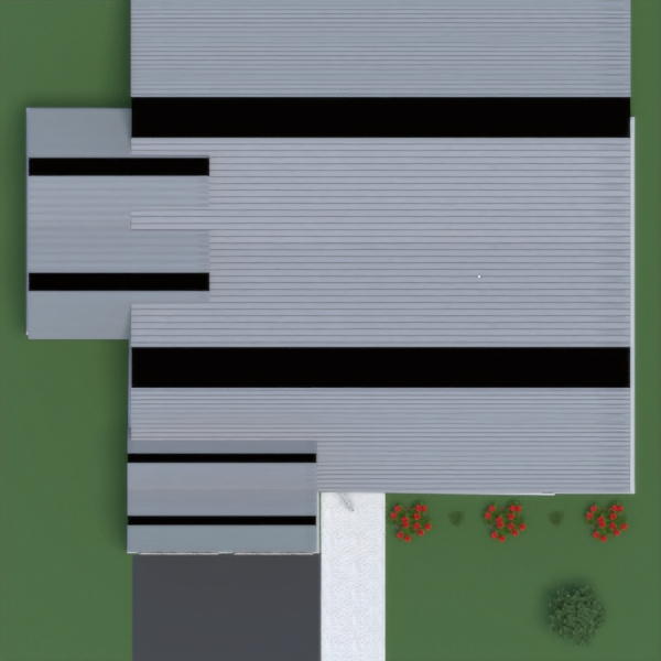 floorplans house garage kitchen landscape storage 3d
