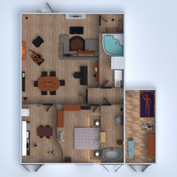 floorplans apartamento dormitório quarto quarto infantil utensílios domésticos 3d