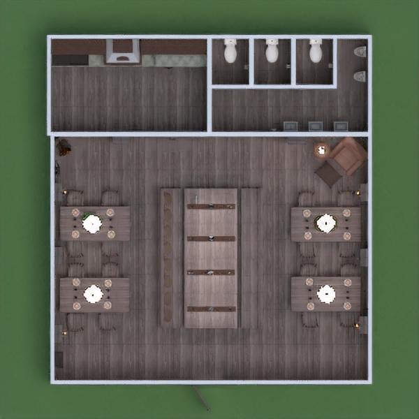 floorplans décoration eclairage rénovation café salle à manger entrée 3d