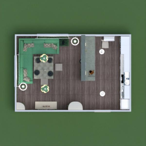 floorplans baldai dekoras virtuvė apšvietimas namų apyvoka sandėliukas 3d