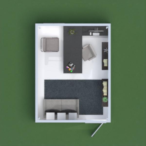 floorplans decoração escritório 3d