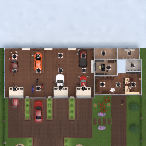 floorplans garage 3d