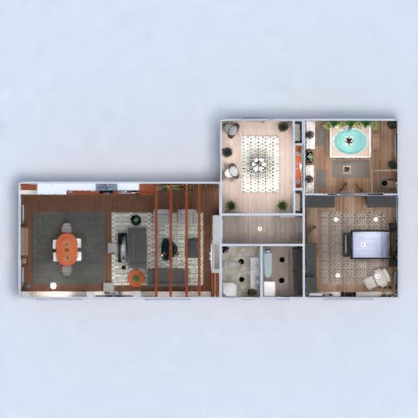 floorplans apartamento casa muebles decoración bricolaje cuarto de baño dormitorio salón cocina iluminación hogar arquitectura estudio descansillo 3d