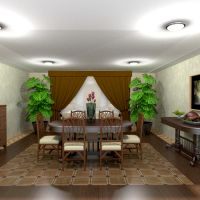 floorplans apartment house furniture decor dining room 3d