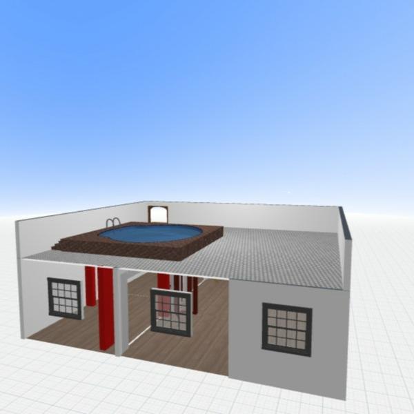 floorplans maison extérieur architecture entrée 3d