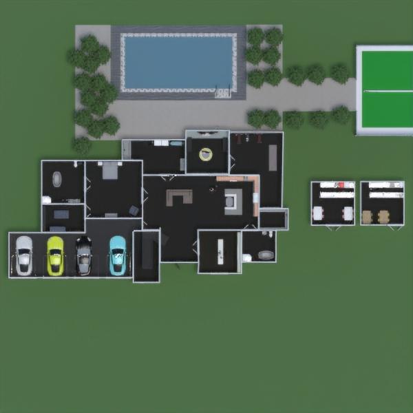 floorplans cuarto de baño garaje exterior paisaje descansillo 3d
