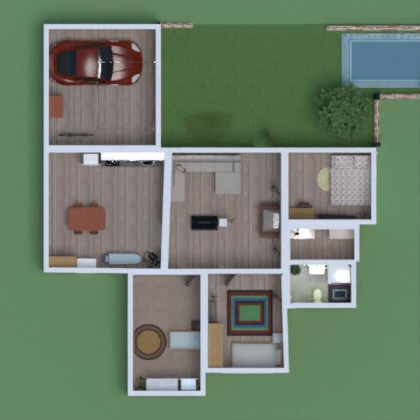 floorplans maison cuisine salle à manger 3d