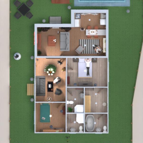 floorplans dom wystrój wnętrz na zewnątrz oświetlenie architektura 3d