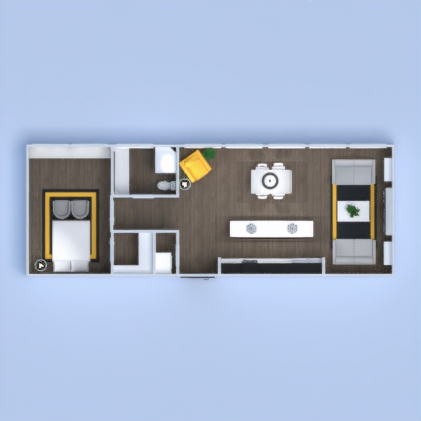floorplans appartement décoration salon cuisine eclairage 3d
