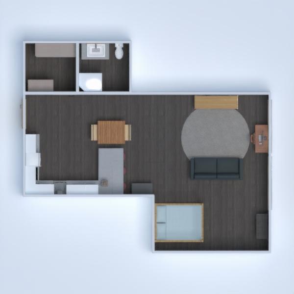 floorplans butas baldai dekoras pasidaryk pats vonia miegamasis svetainė virtuvė namų apyvoka studija 3d