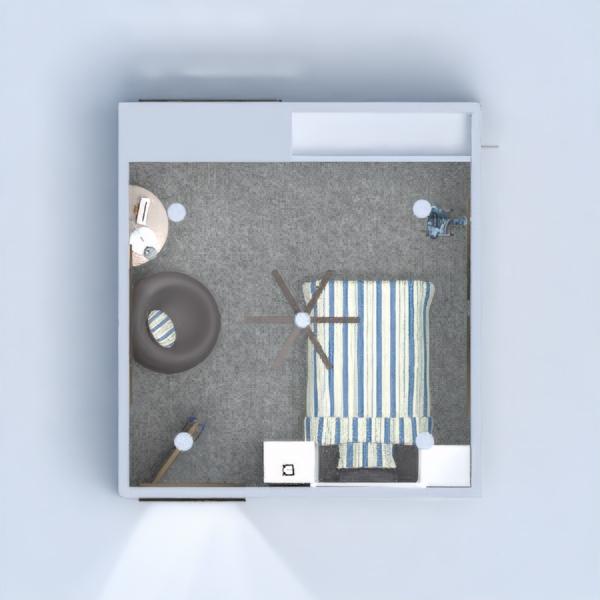 floorplans wohnung haus schlafzimmer kinderzimmer lagerraum, abstellraum 3d
