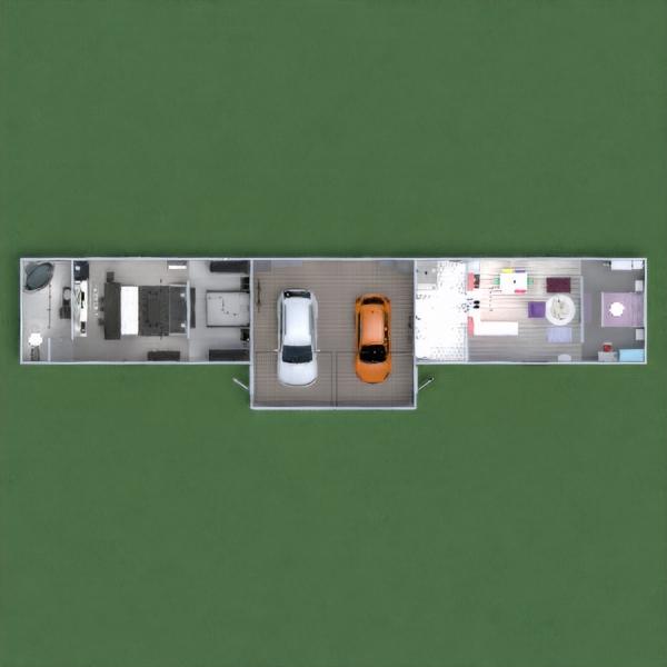 floorplans mieszkanie łazienka sypialnia pokój dzienny 3d