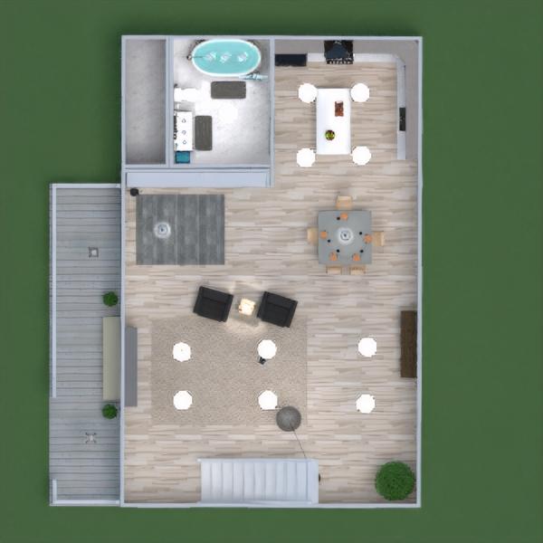 floorplans casa varanda inferior mobílias decoração casa de banho dormitório quarto cozinha quarto infantil escritório iluminação reforma utensílios domésticos sala de jantar despensa patamar 3d