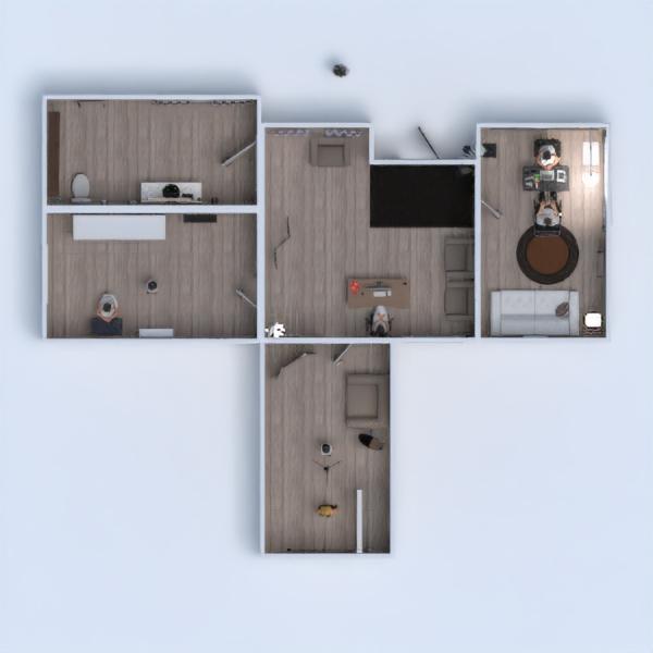 floorplans mieszkanie oświetlenie jadalnia architektura mieszkanie typu studio 3d