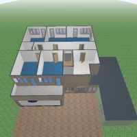 floorplans apartment house terrace 3d