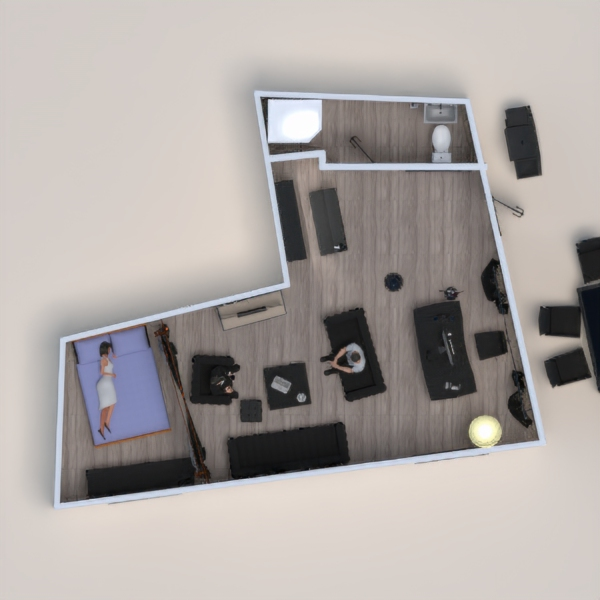 floorplans garaje 3d
