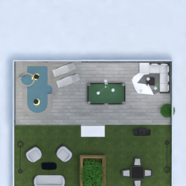floorplans house terrace bathroom bedroom living room 3d