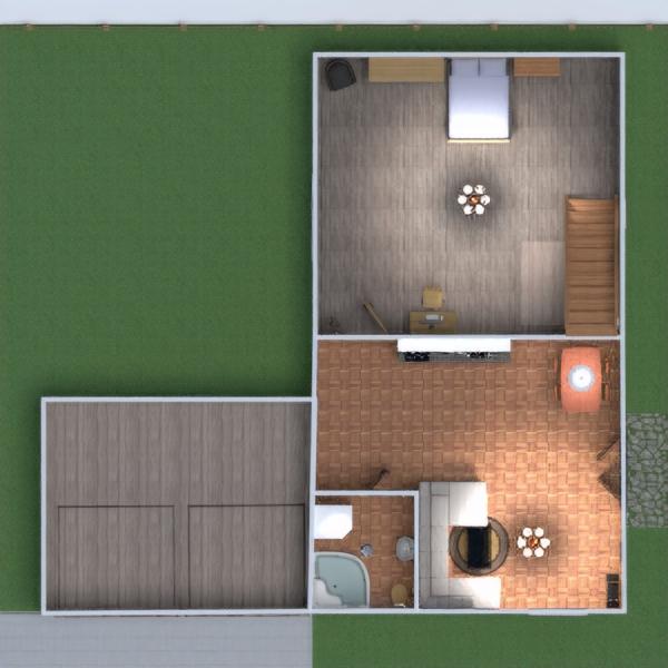 floorplans meble łazienka garaż pokój diecięcy jadalnia 3d