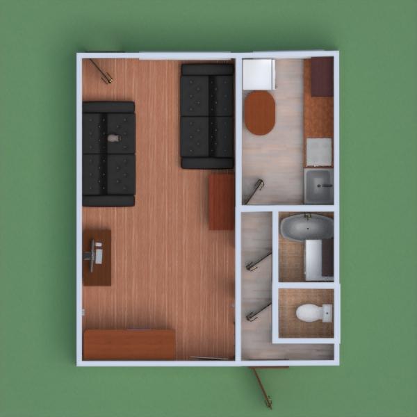 floorplans apartamento mobílias faça você mesmo quarto cozinha 3d