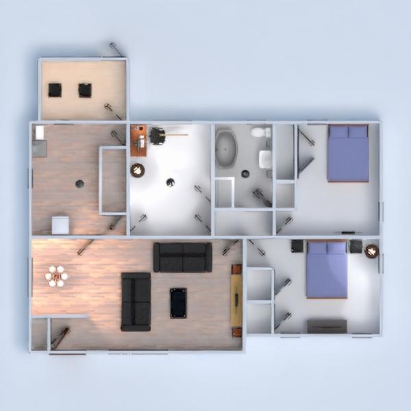 floorplans casa mobílias quarto garagem cozinha 3d