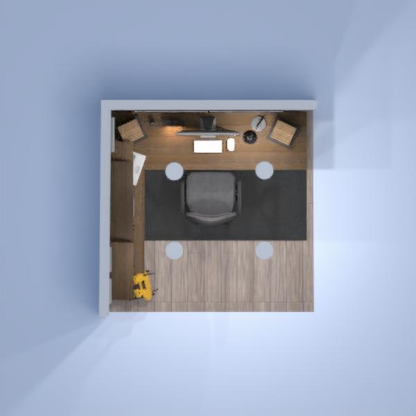 floorplans apartamento dormitório escritório utensílios domésticos patamar 3d