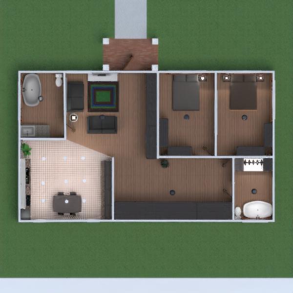 floorplans квартира ванная спальня гостиная кухня 3d