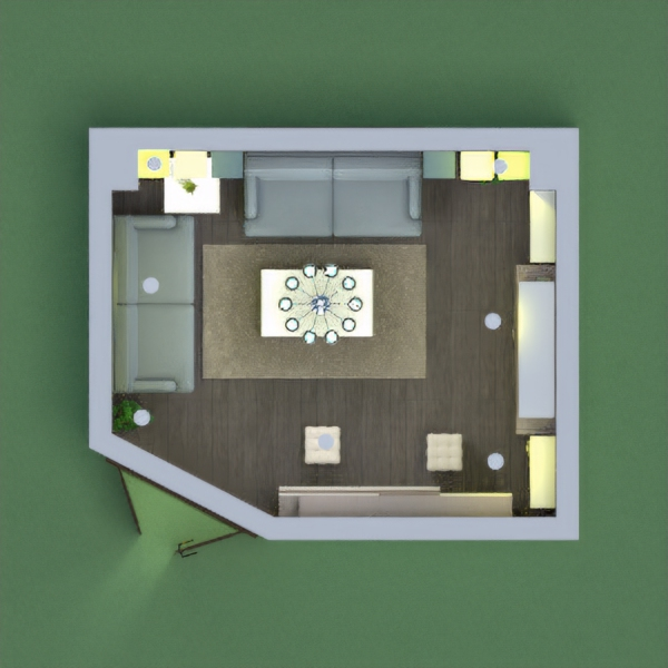 floorplans maison salon eclairage 3d
