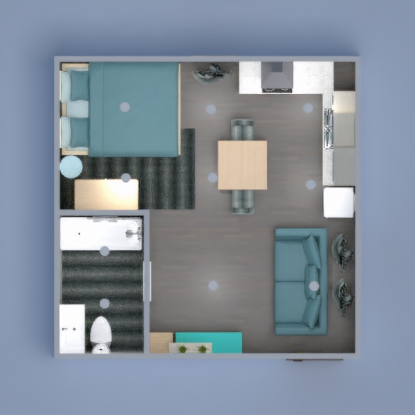 floorplans apartment furniture decor studio 3d