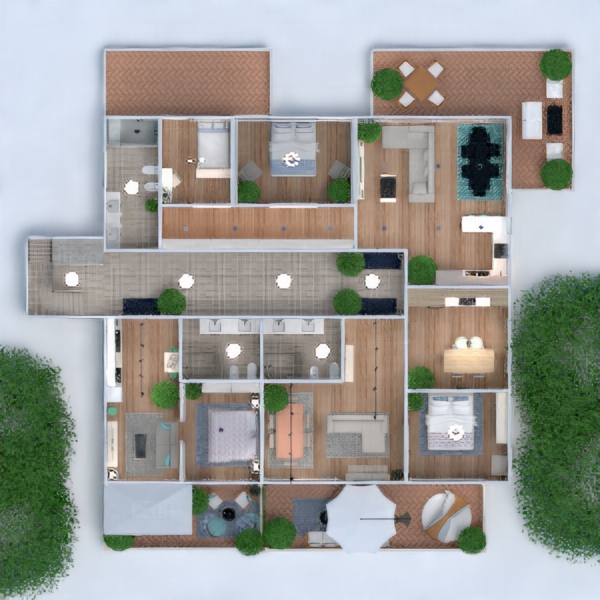floorplans apartment house bedroom living room 3d