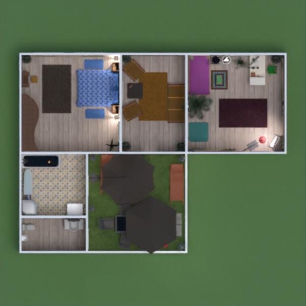 floorplans casa varanda inferior mobílias decoração casa de banho dormitório quarto garagem cozinha área externa quarto infantil iluminação paisagismo arquitetura 3d