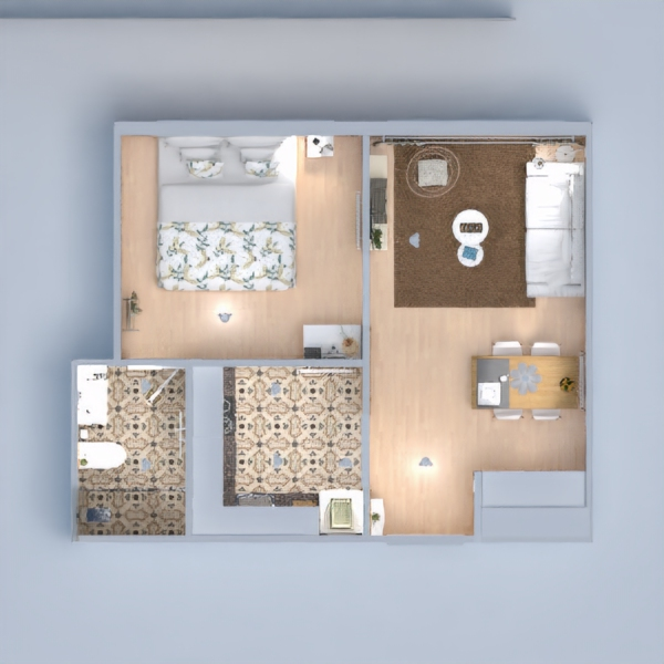floorplans appartement diy salon salle à manger 3d